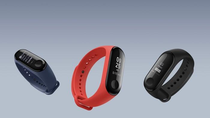 Xiaomi's Mi Band 3 wearable fitness tracker.