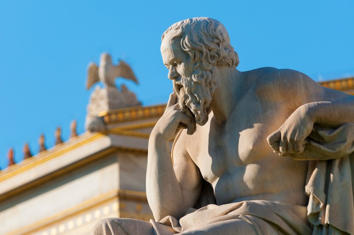A statue of Aristotle