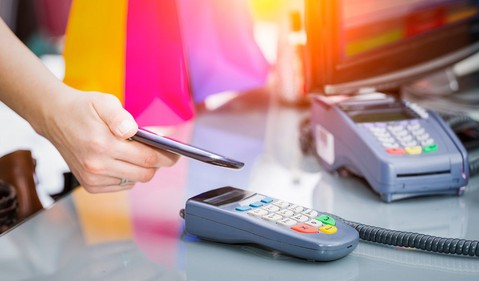 Mobile pay retail credit card