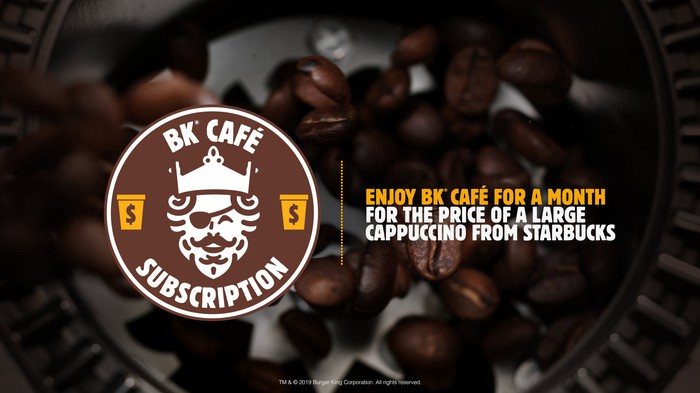 BK Cafe Coffee subscription graphic.