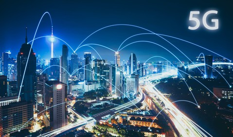 Illustration of 5G Connected City