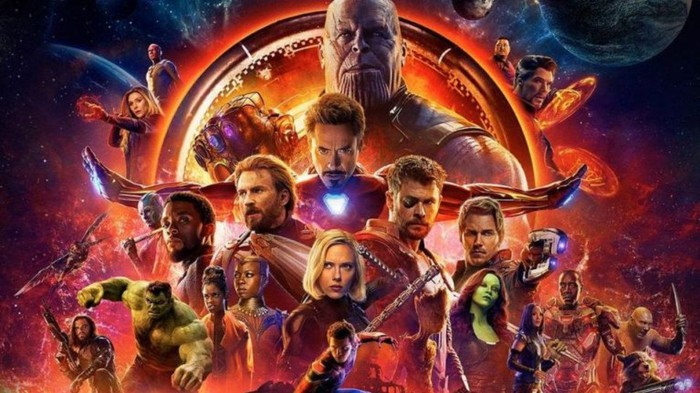 Marvel's Avengers Infinity War cover art with the entire cast of characters.