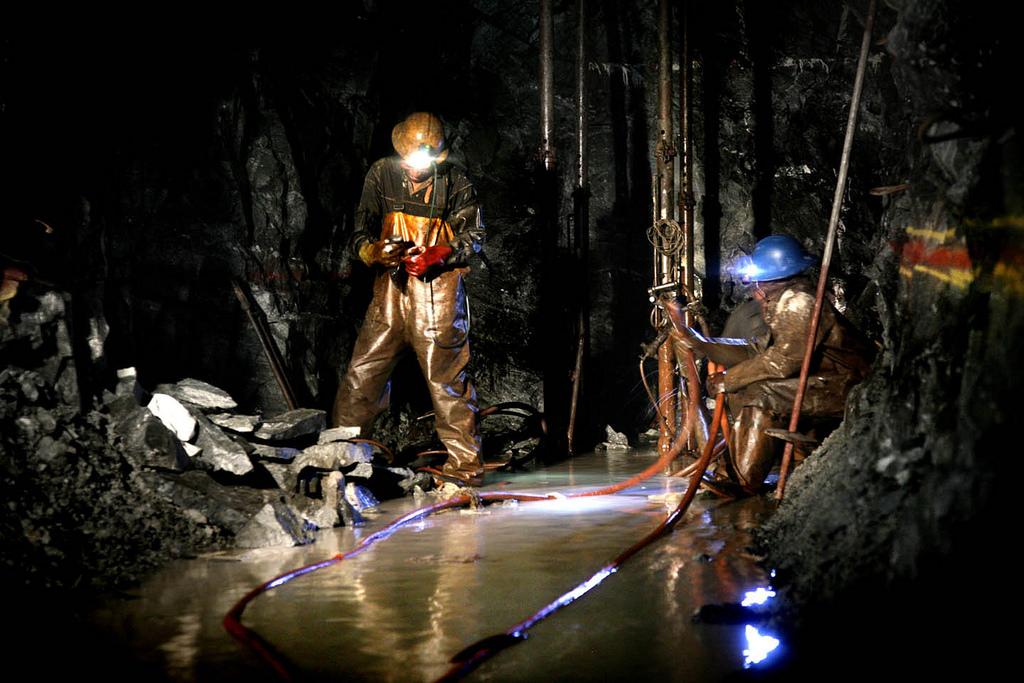 Miners at work underground at Sibanye-Stillwater's Driefontein operations.