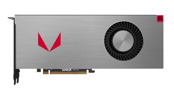 An AMD Vega graphics card.