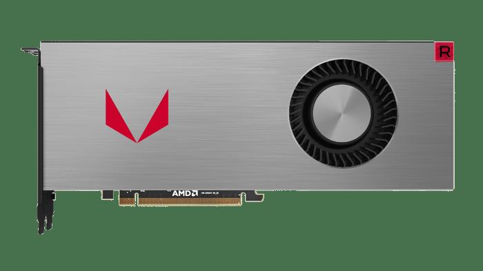 An AMD Vega graphics card.