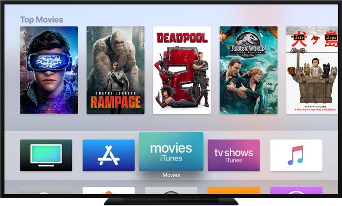 An Apple TV interface.