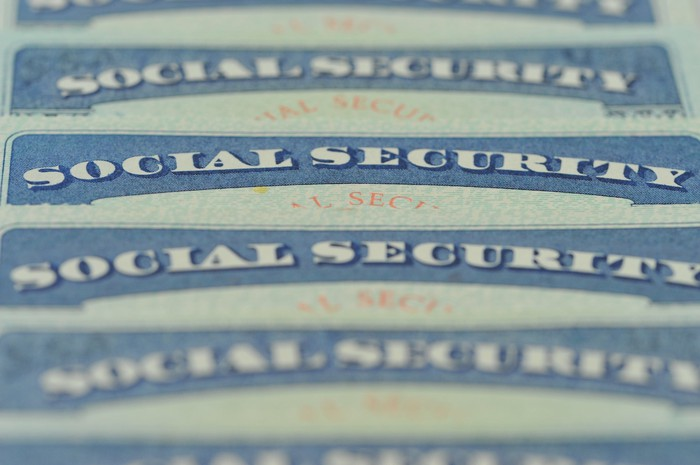 Multiple Social Security cards.