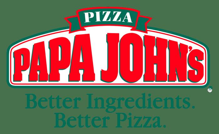 Papa John's logo and slogan.