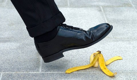 Getty - banana peel fall mistake risk danger bad move trouble oops