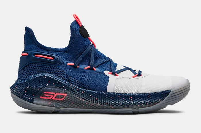 An Under Armor Curry 6 shoe.