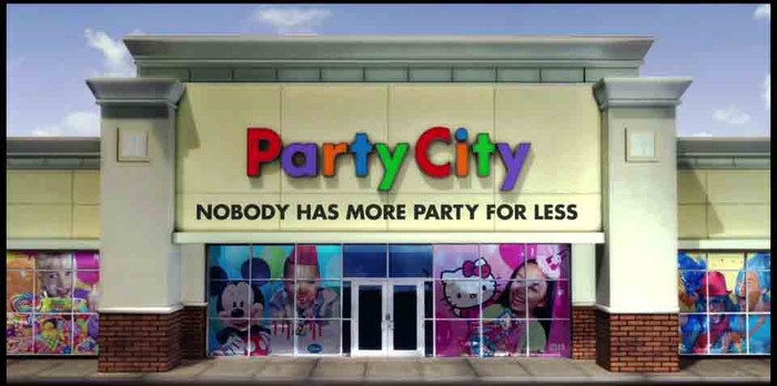 Party City storefront.