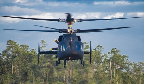 Sikorsky-Boeing SB1 DEFIANT helicopter first flight source LMT