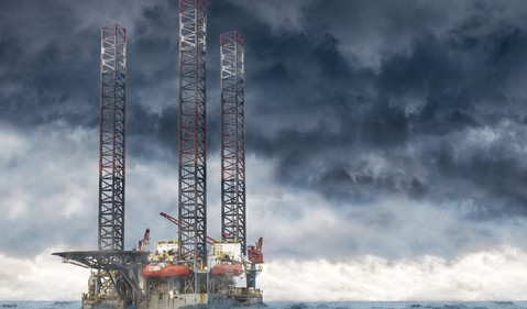 jackup drilling rig offshore stormy seas 1500