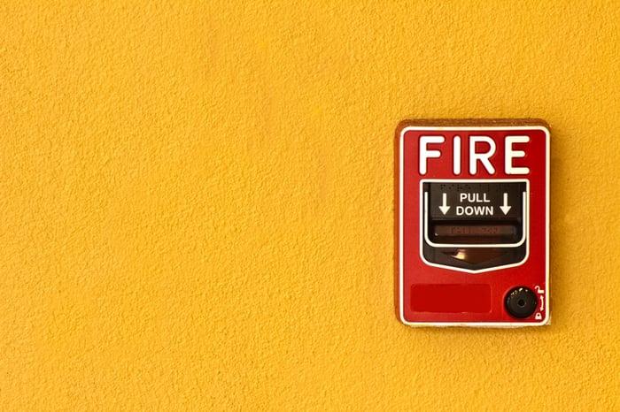 A fire alarm.