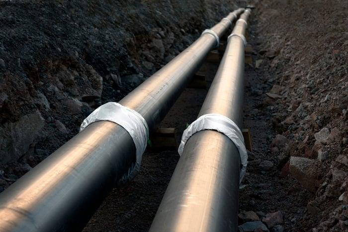 An underground pipeline.