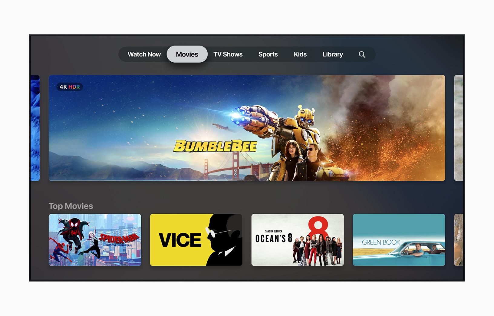 New TV app interface