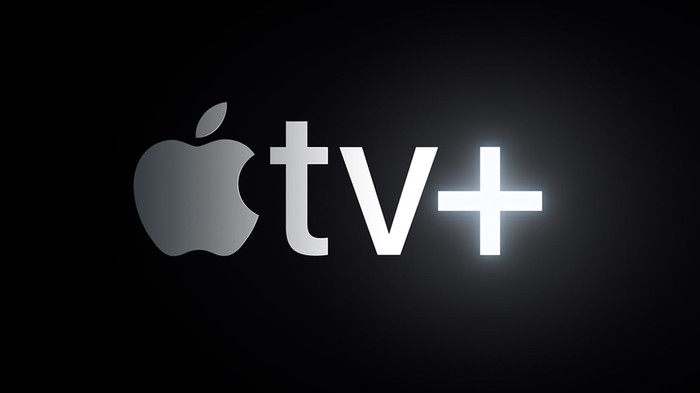 A logo for the Apple TV+ service