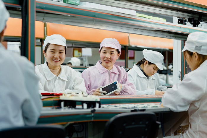 An iPhone production facility.