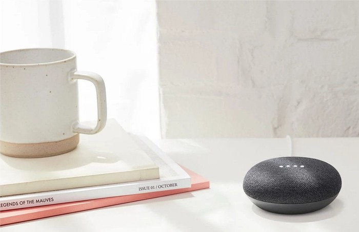 Google Home Mini on the table