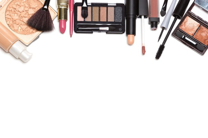 collection of beauty products