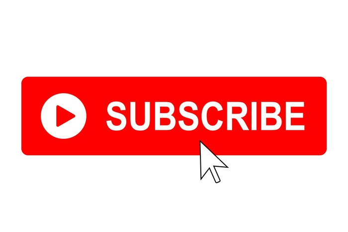 A cursor pointing to a subscribe button