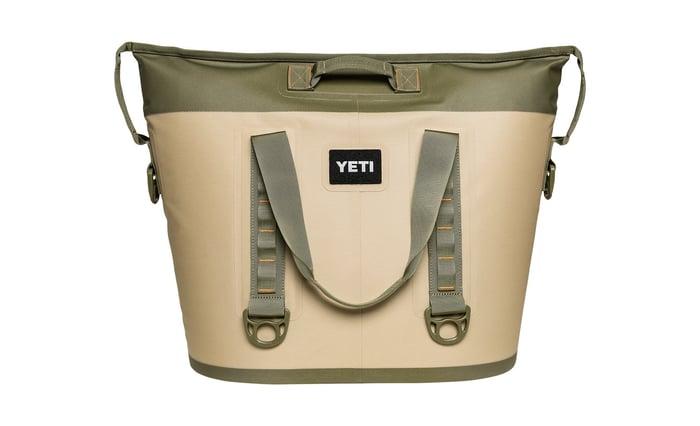A Yeti portable cooler.