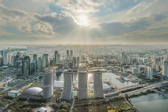 Marina Bay Sands' expansion plans.