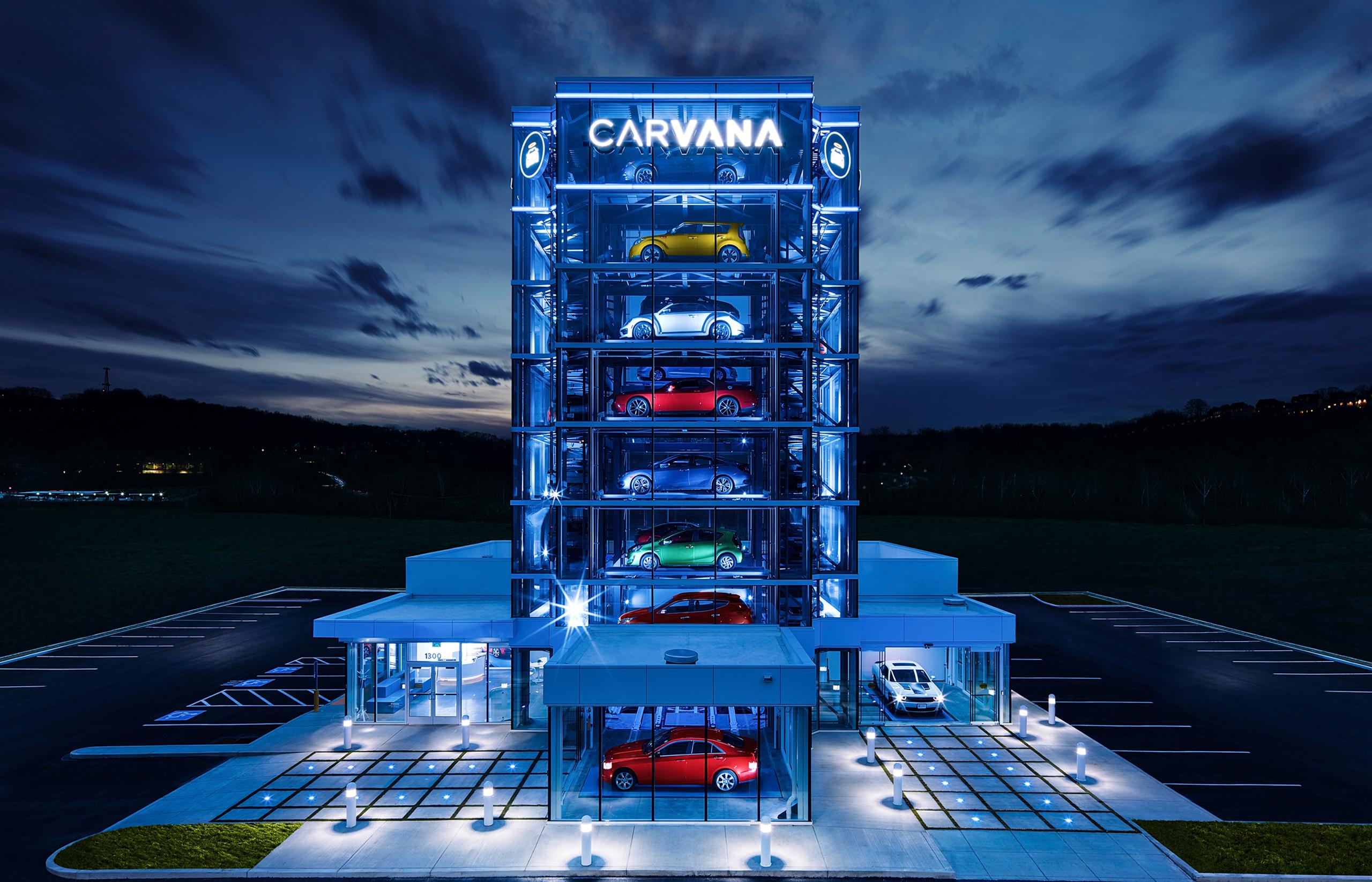 Carvana's Pittsburgh vending machine holding 27 vehicles.