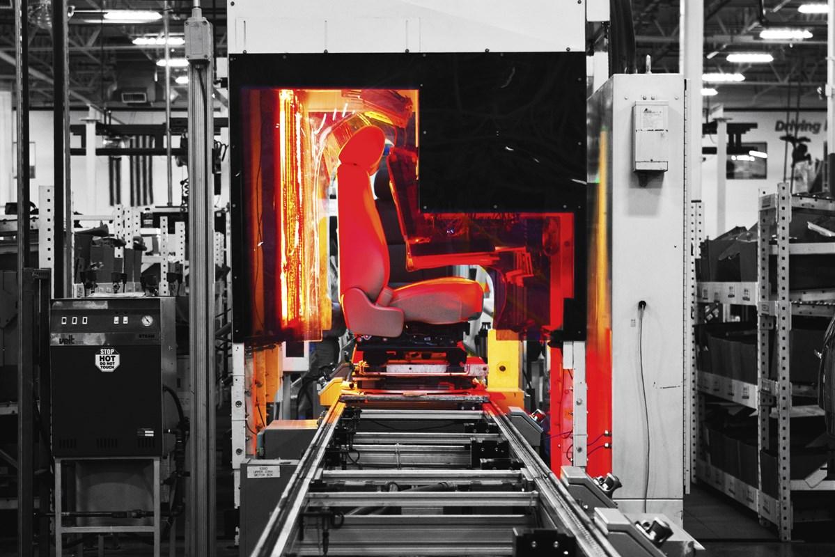 An automotive seat production line