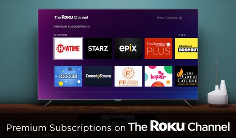 The Roku Channel Premium Subscriptions