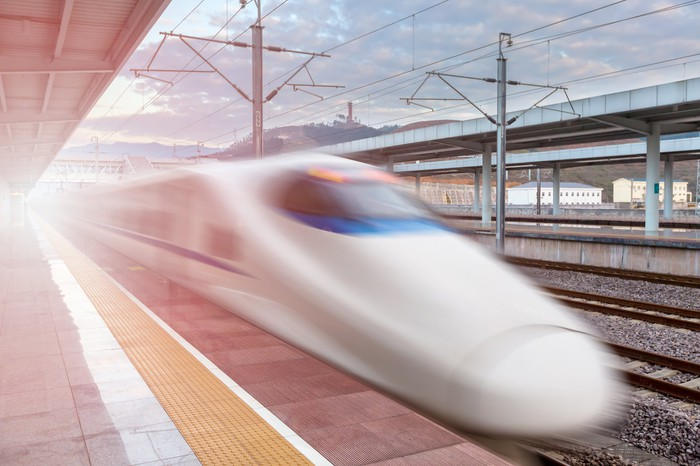 Image of a high speed train