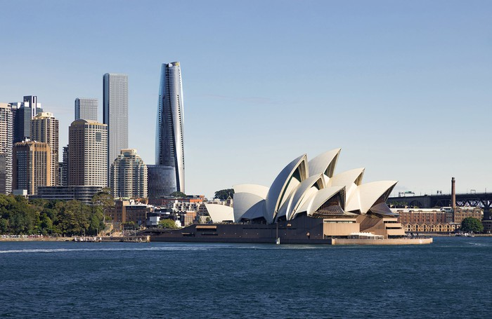 Crown Resorts' new integrated resort behind the Sydney Opera House