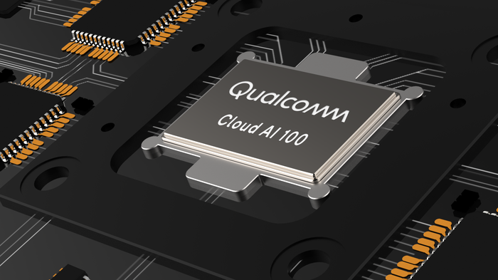 A rendering of Qualcomm's Cloud AI 100 chip.
