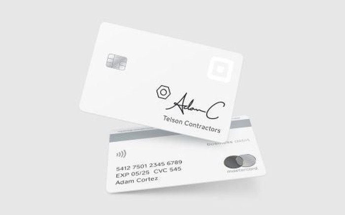 A rendering of the Square Card debit card.