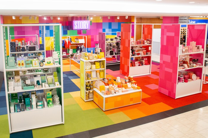 A Story marketplace at Macy's.