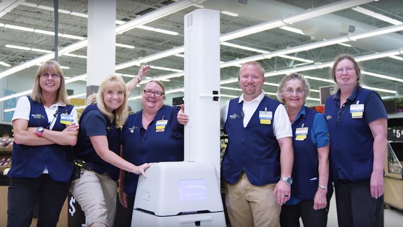 Walmart workers robot