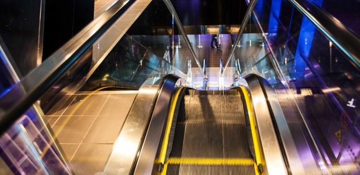 An Otis escalator.