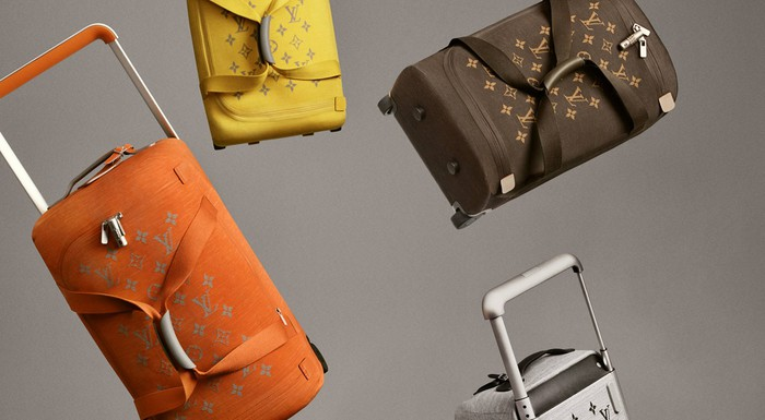 Louis Vuitton luggage bags.