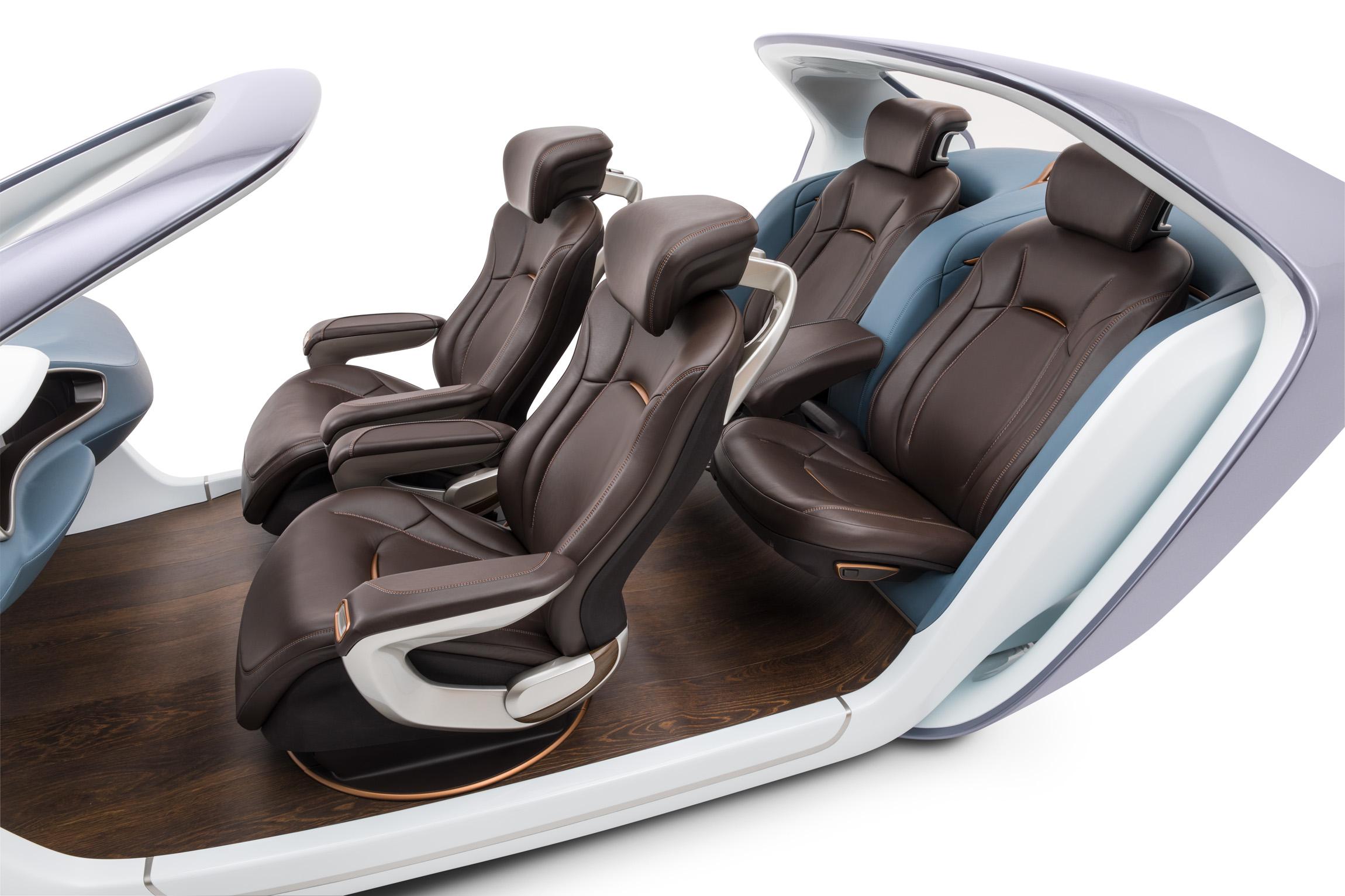 An automotive interior design.