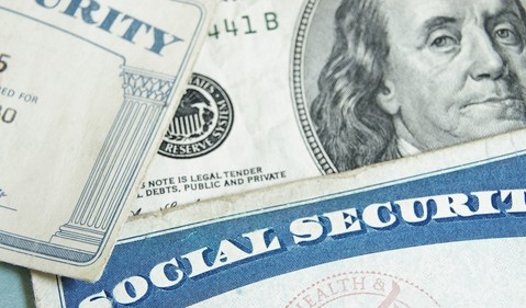 Social Security Card Cash Retirement Tax Benefits Getty