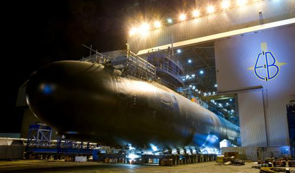GD Virginia class sub at Electric Boat CT source GD