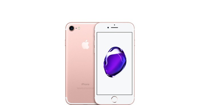 A rose gold iPhone 7