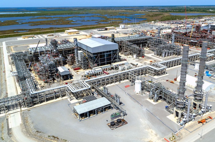 Aerial view of the Cameron LNG project in Louisiana.