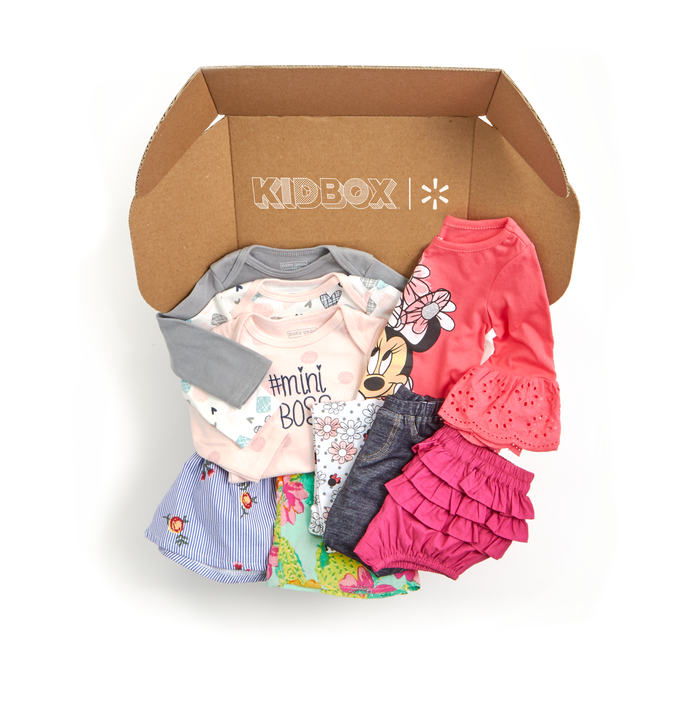A Kidbox with a selection of young girls clothes
