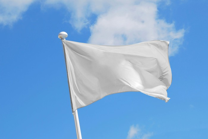 White flag waving
