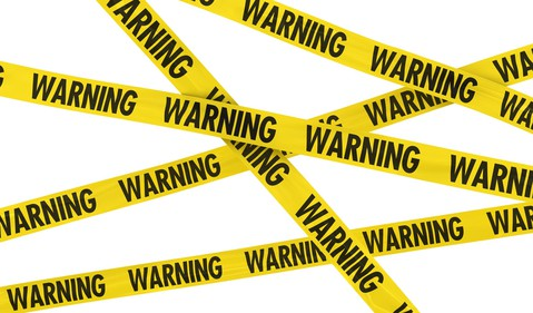 Getty - danger warning lose money mistakes errors caution
