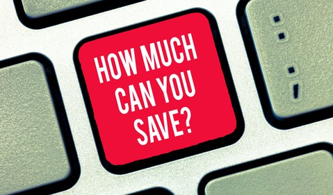 Getty - how much can you save savings