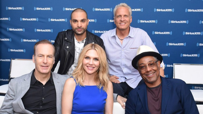 The cast of Better Call Saul at a Sirius XM Town Hall show.