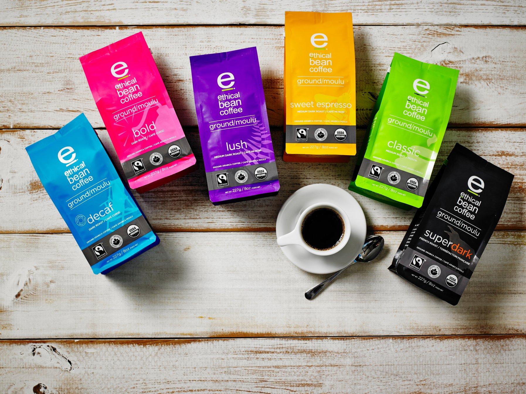 Ethical Bean coffee.