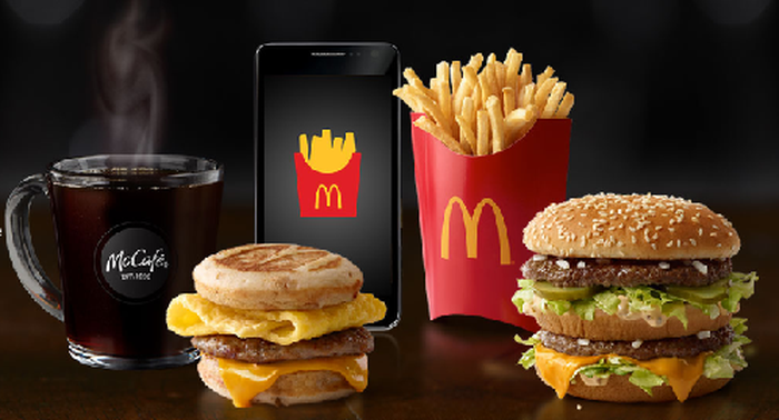 Photo of McDonald's Menu Items with a Mobile Phone